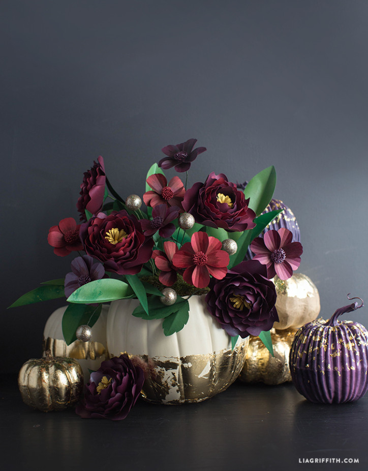 Fall_Gold_Foil_Pumpkin_Flowers