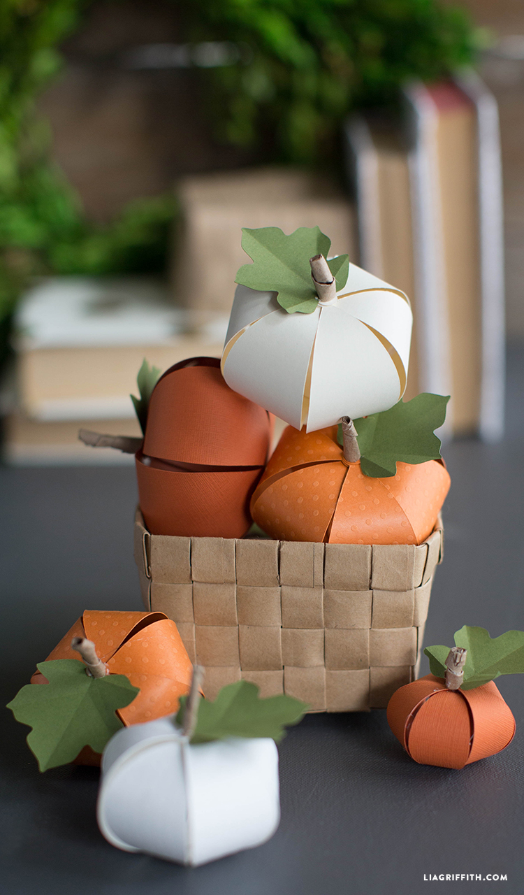 DIY Paper Pumpkin - Lia Griffith