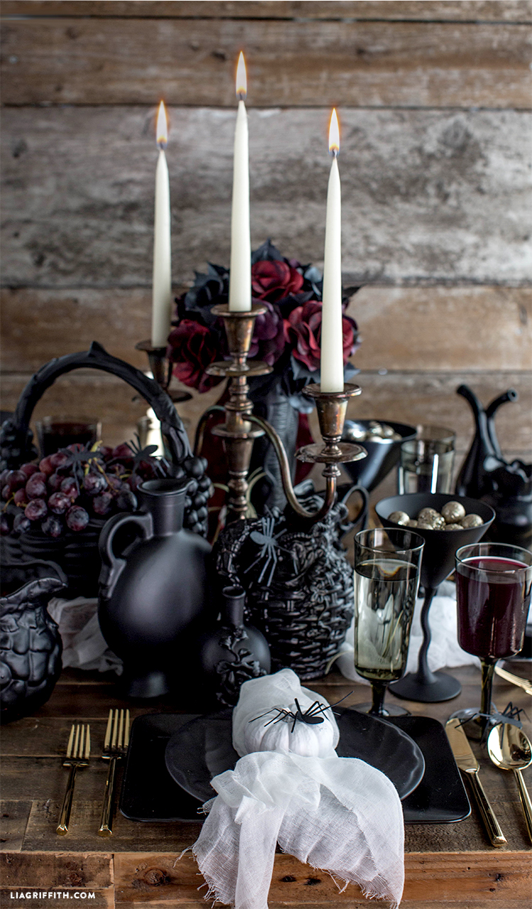 Throwing A Halloween Party? Be Inspired By Our Devilishly Handsome Gothic  Table Decor. Created Using A Collection Of Vases, Plates And Crockery From  Thrift ...