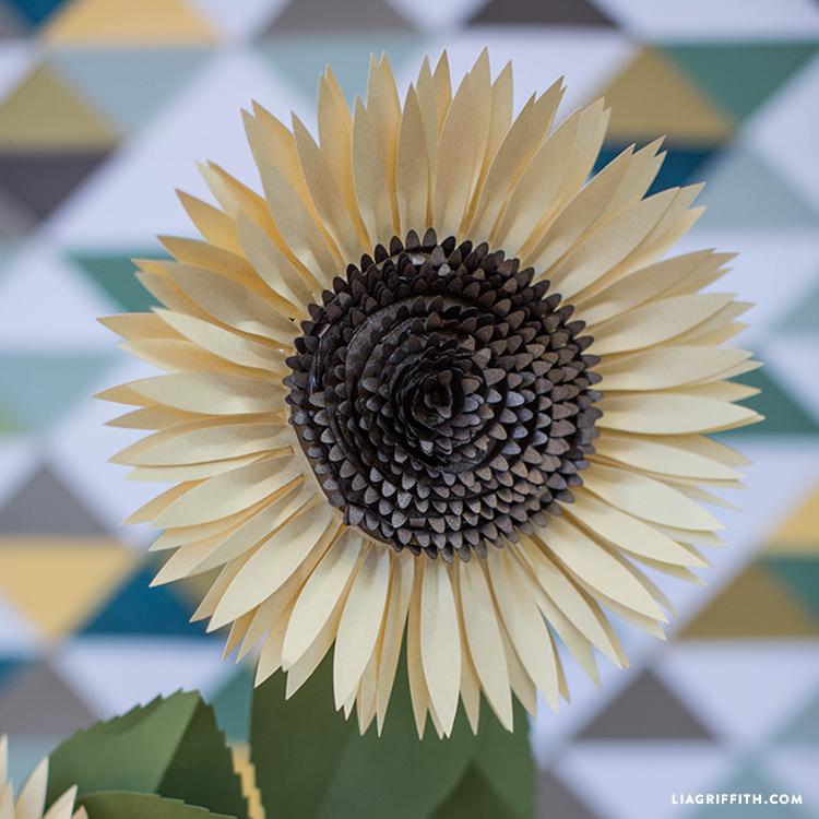 Diy Paper Sunflower Lia Griffith