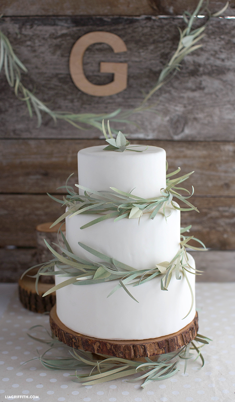 Paper Eucalyptus Garland For Your Wedding Cake Lia Griffith
