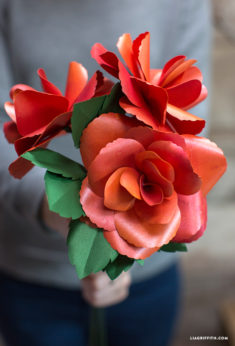 Diy Paper Garden Rose Lia Griffith