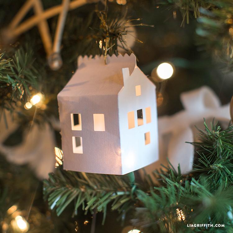 Diy Paper House Christmas Ornament Lia Griffith