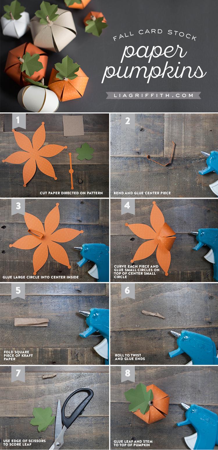 Pumpkin stems for crafts - Diy Paper Pumpkin