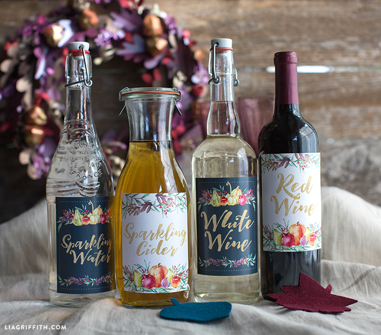 Thanksgiving_Fall_Wine_Cider_Labels