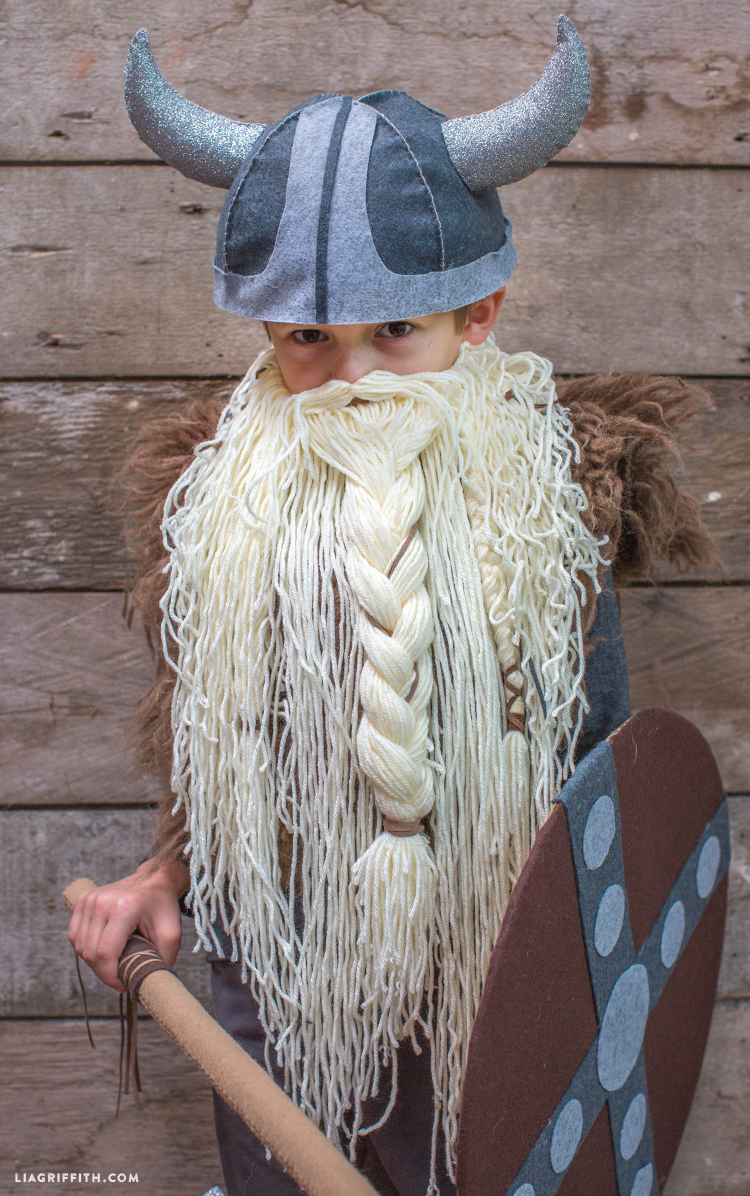 Viking_Beard_Costume_DIY_Halloween & DIY Kidu0027s Viking Costume - Lia Griffith