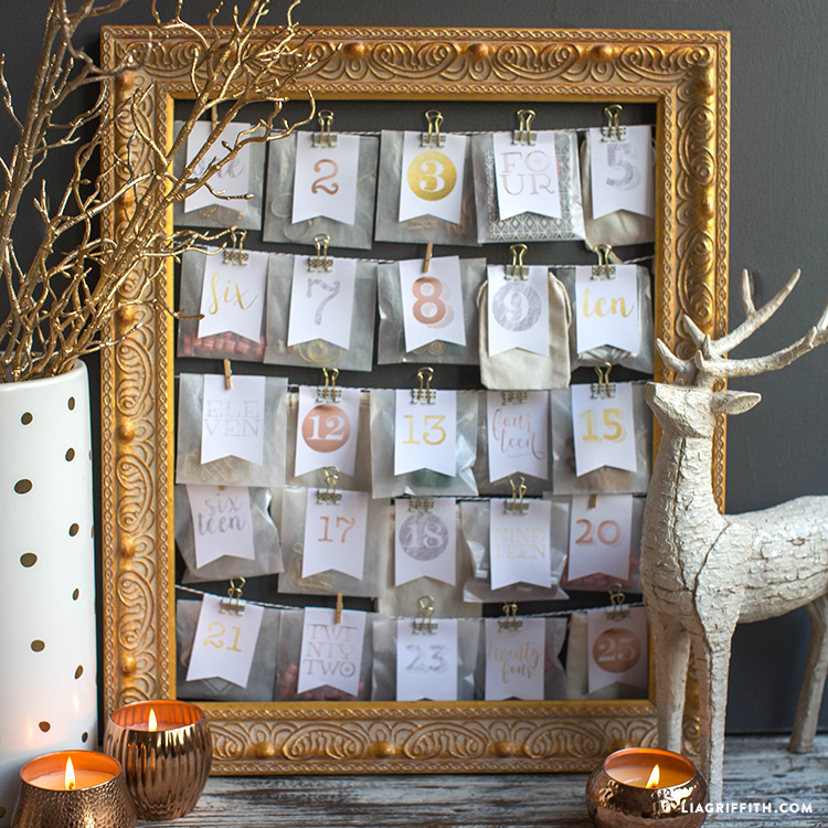 Advent Calendar Ideas Not Chocolate : Diy advent calendar lia griffith