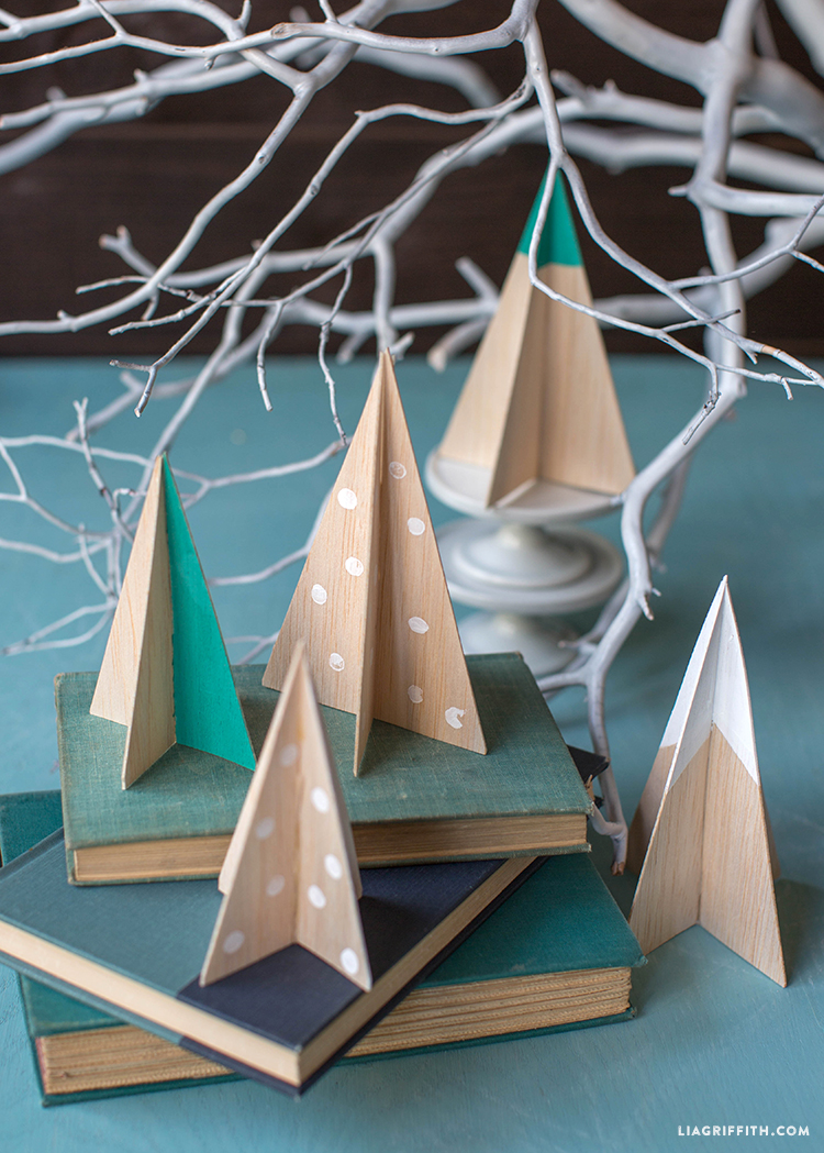 Diy Balsa Wood Christmas Tree Lia Griffith