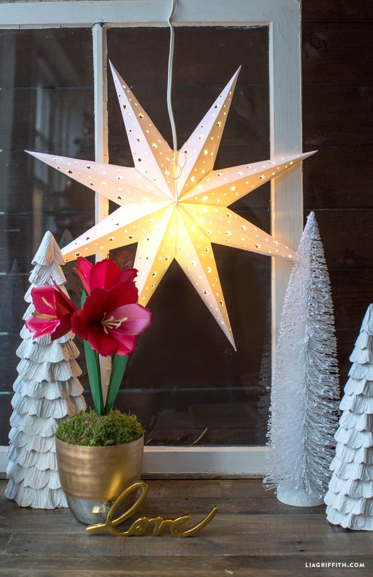 Window Decoration Diy Paper Star Window Decoration Lia Griffith