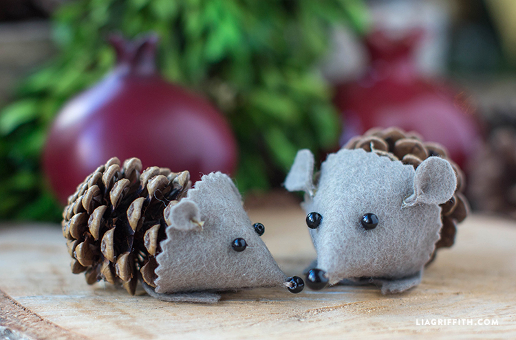 DIY_Craft_Pinecone_Felt_Hedgehog