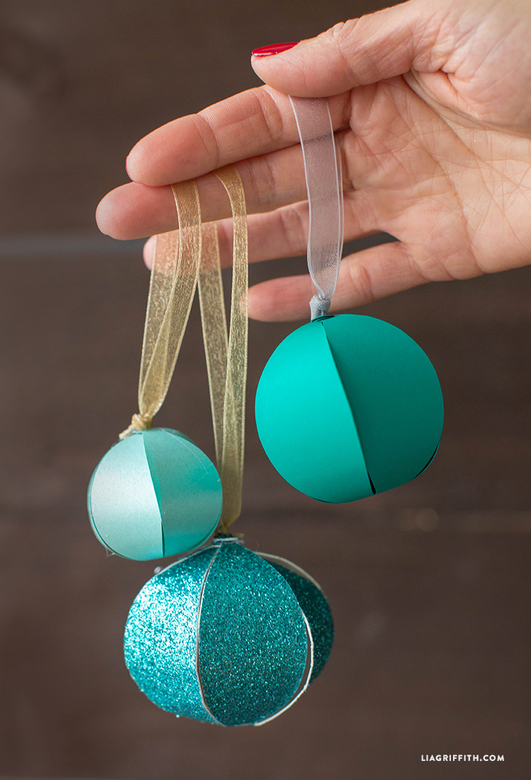 Easy homemade paper christmas decorations - Diy Paper Christmas Ornaments Lia Griffith