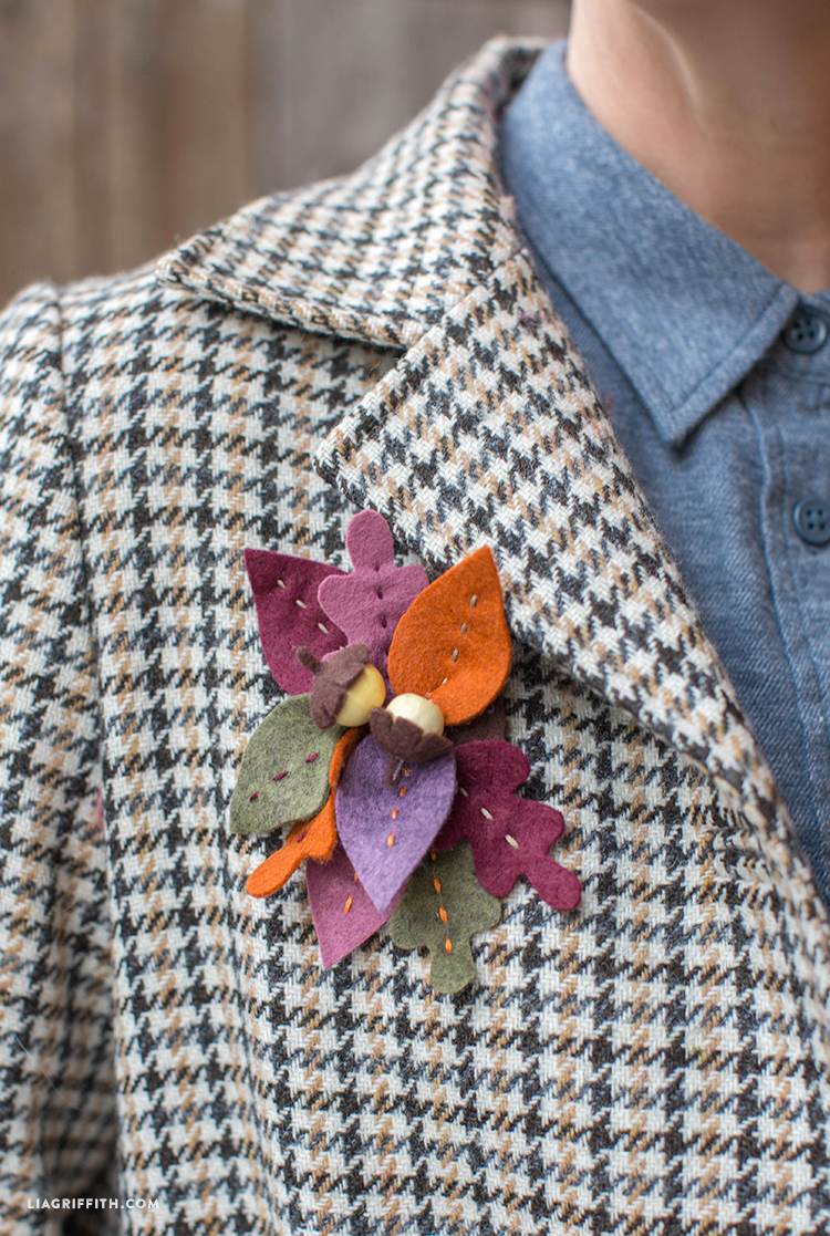 Fall Felt Brooch - Lia Griffith