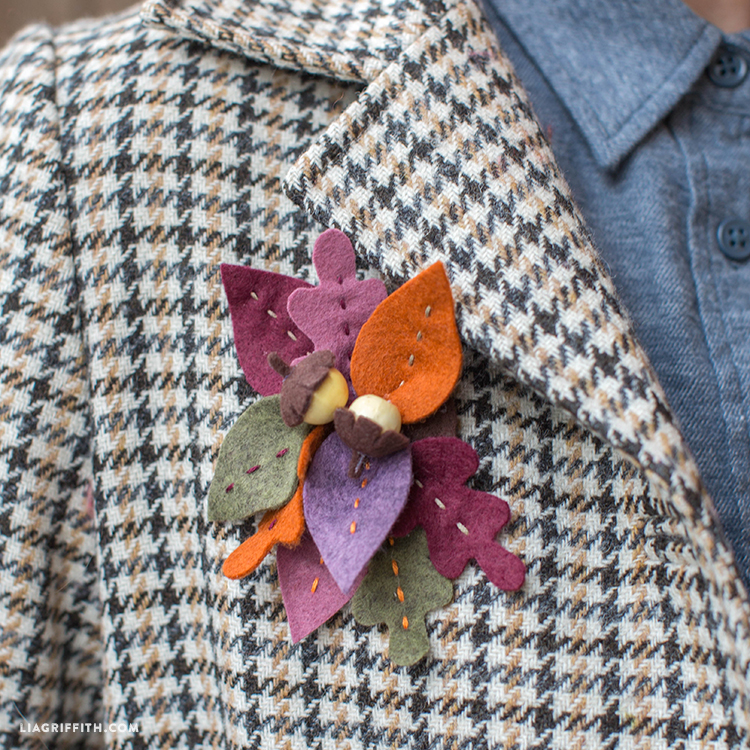 Fall Felt Brooch