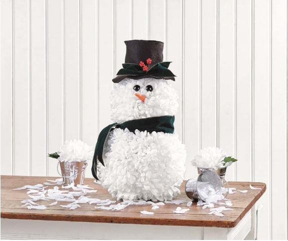 Snowman from Flora Craft's Holiday book