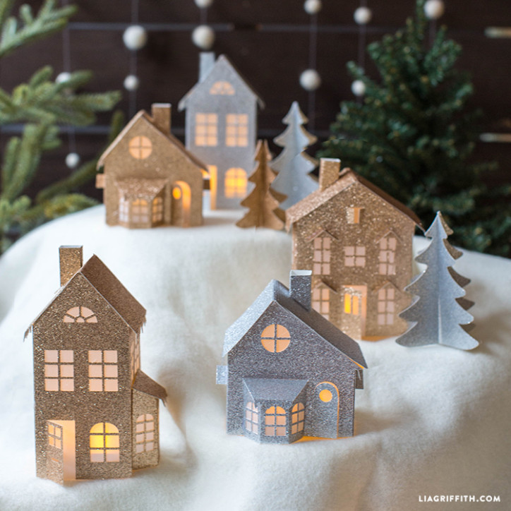 paper christmas village