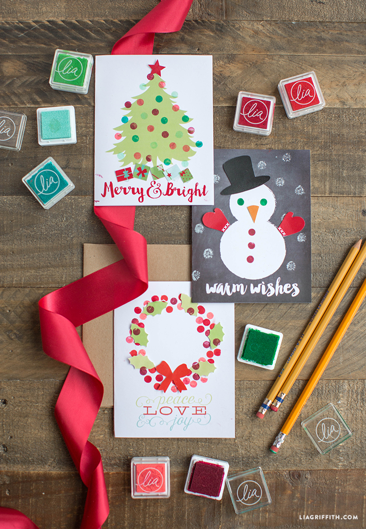 stamped holiday cards craft for kids