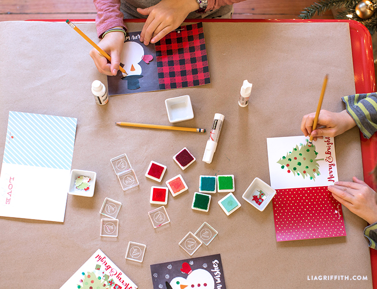 Kids_Stamping_Holiday_Cards