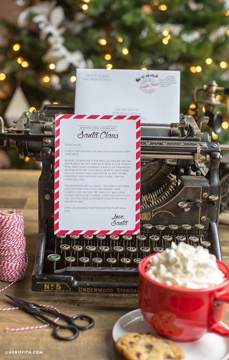 Editable letter from santa lia griffith letter from santa spiritdancerdesigns Choice Image