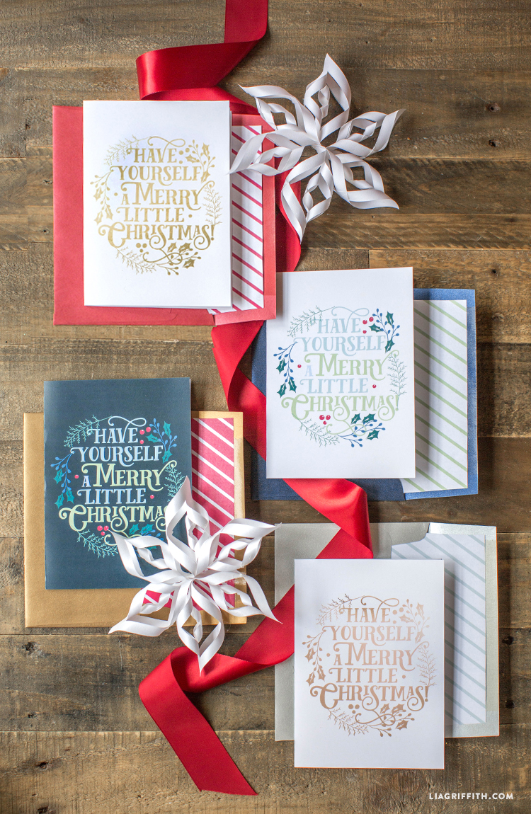 Printable merry little christmas cards lia griffith merrylittlechristmasfoldedcards solutioingenieria Image collections