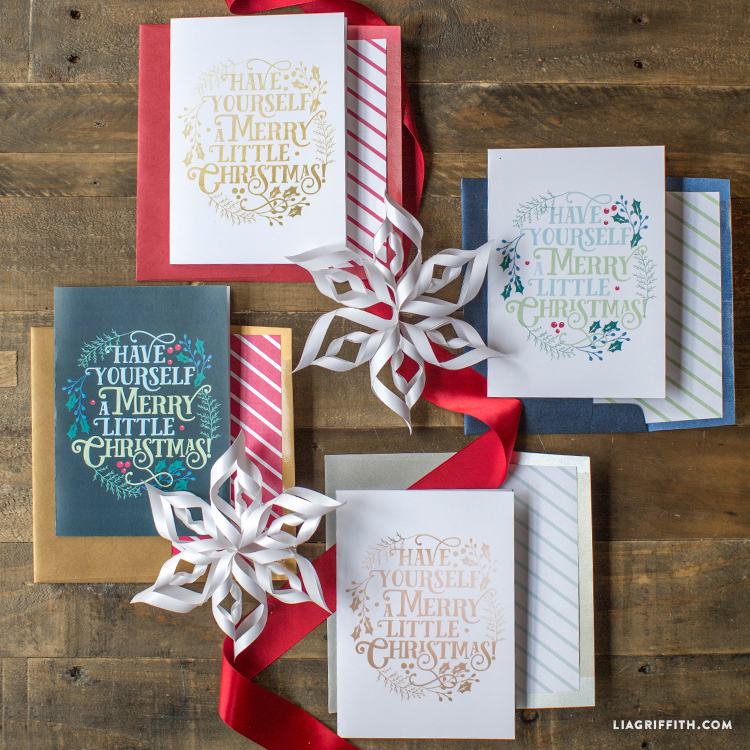 printable merry little christmas cards lia griffith