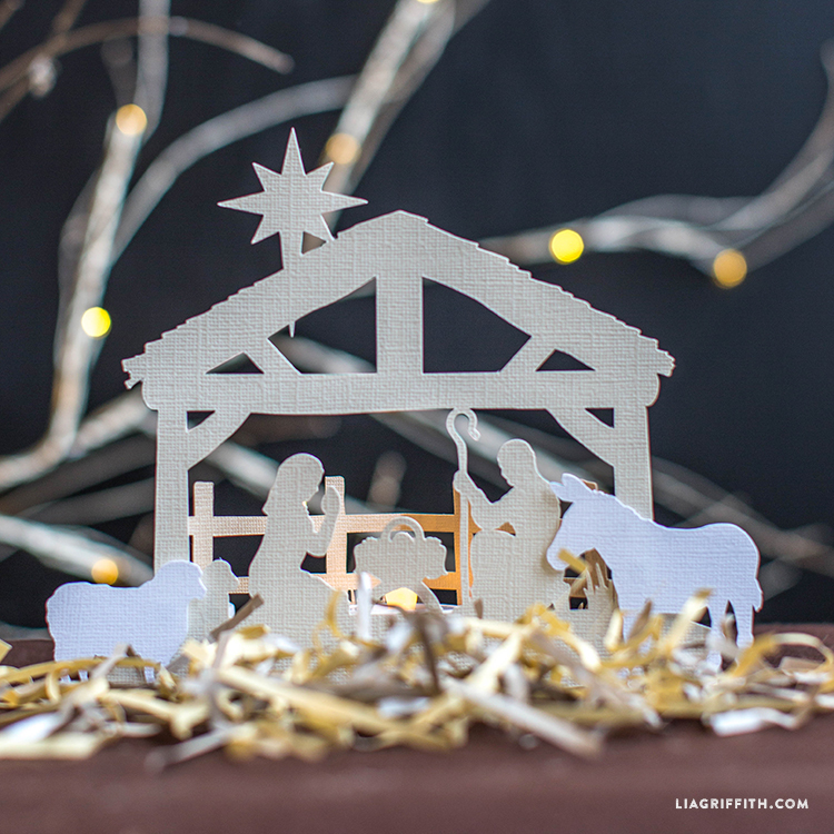 Papercut nativity scene freebie lia griffith solutioingenieria
