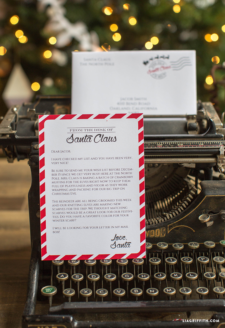 editable letter from santa lia griffith
