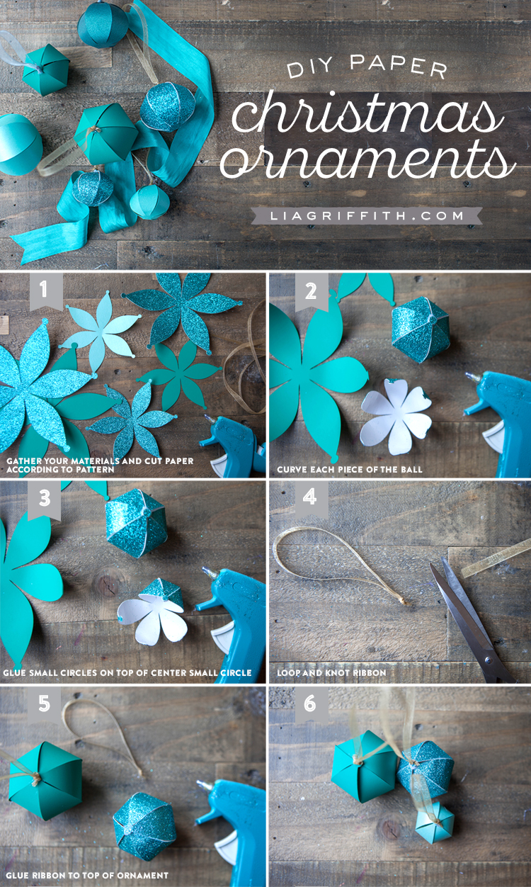 Christmas Decorations Diy With Paper : Diy paper christmas ornaments lia griffith