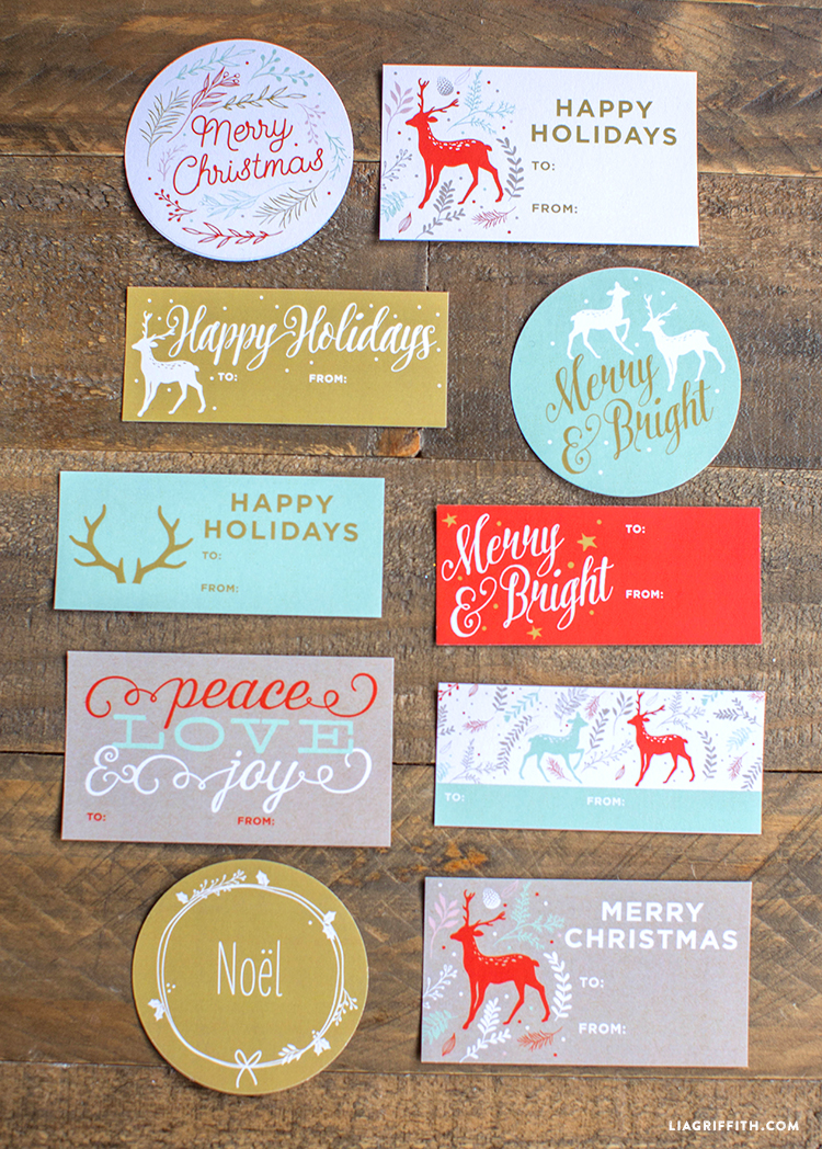 printable holiday gift labels lia griffith