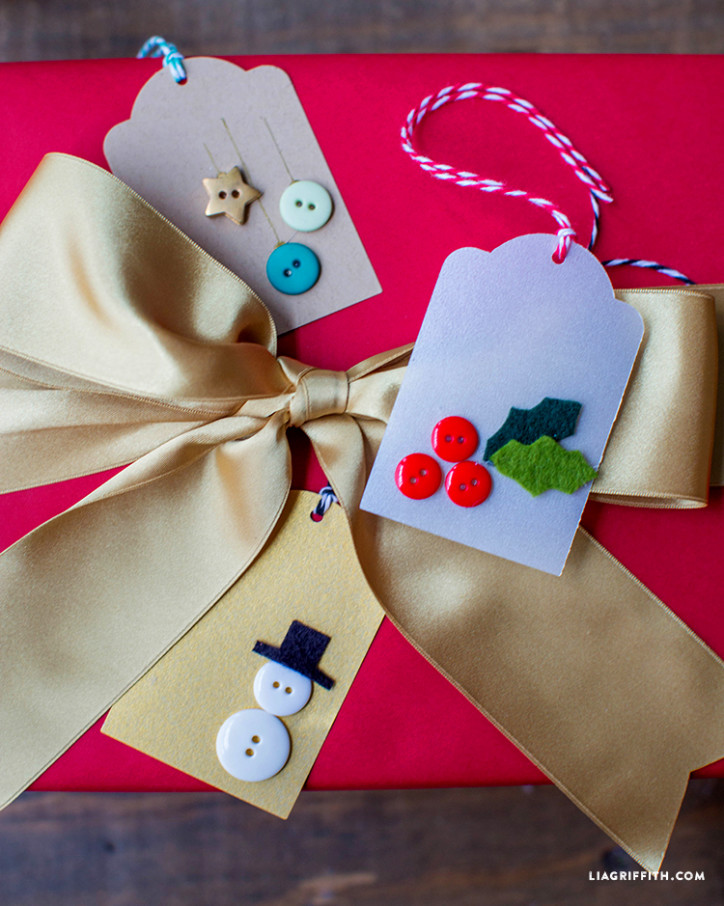 Kids craft gift tags