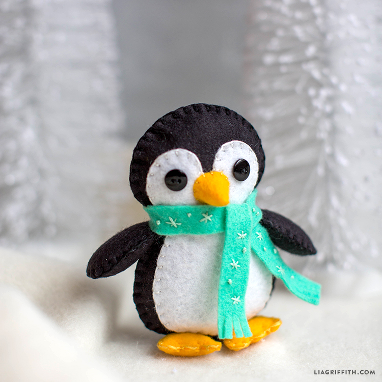 Winter Penguin Felt StuffieLia Griffith