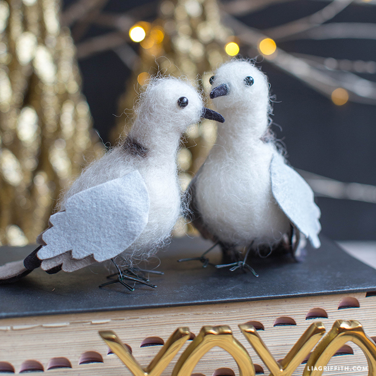 Felted Turtle Doves - Lia Griffith