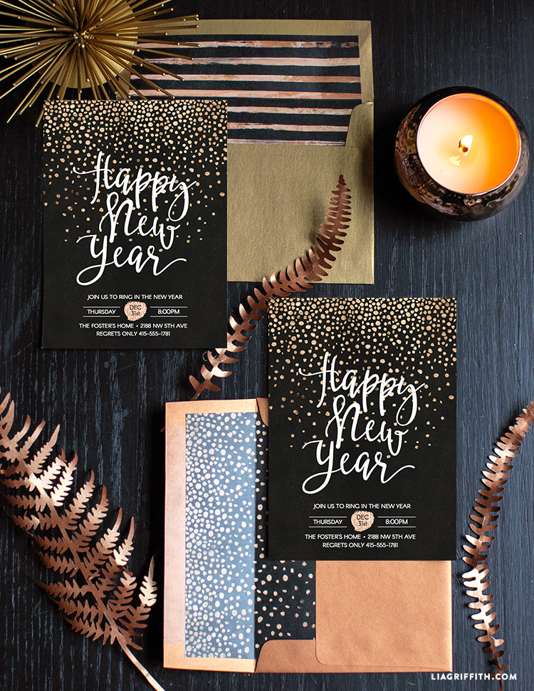 new year s eve party invitation lia griffith