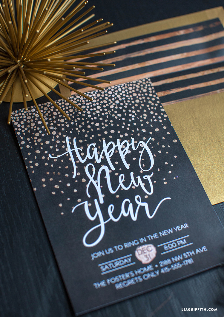 New Years Eve Party Invitation Lia Griffith