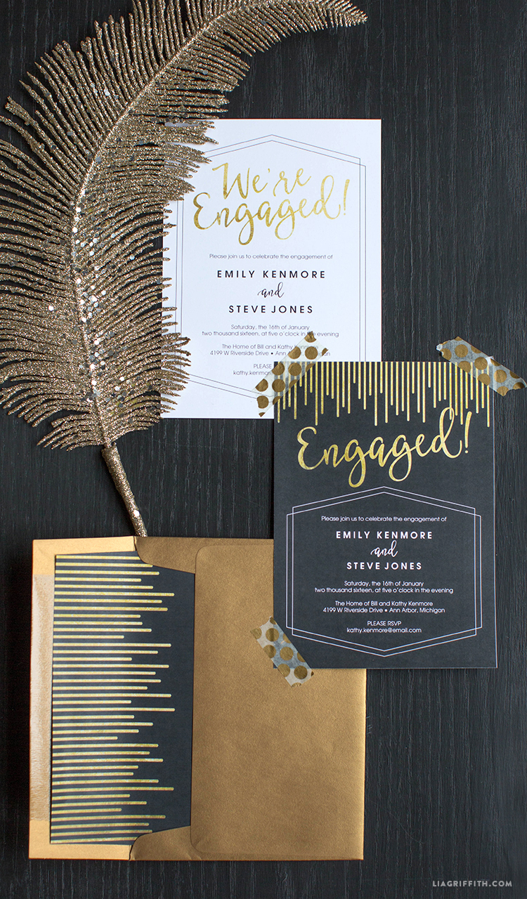 Printable Engagement Party Invitations Lia Griffith – Photo Engagement Party Invitations