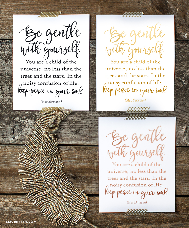 Printable Art Inspirational Quote Lia Griffith