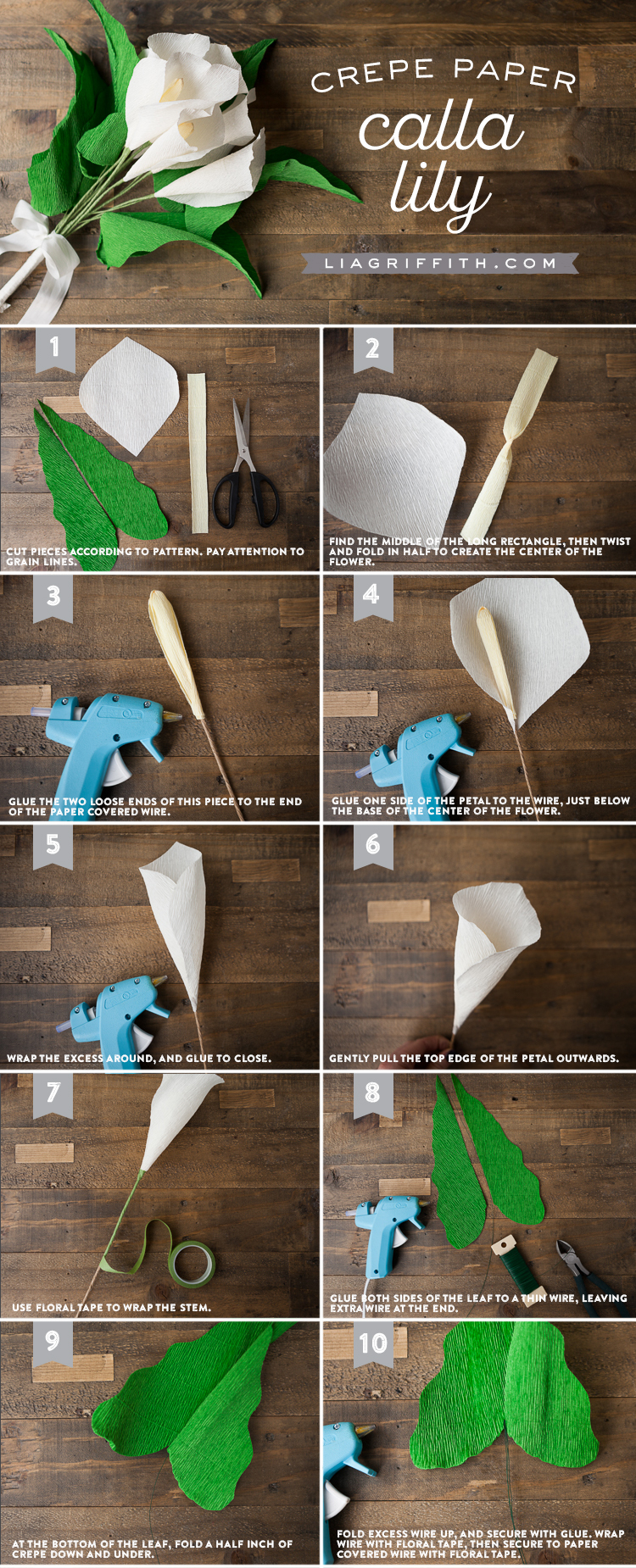 Crepe paper calla lily lia griffith paper flower crafts or you are making your own diy wedding flowers you can share your pics with us over on facebook twitter or instagram using the izmirmasajfo
