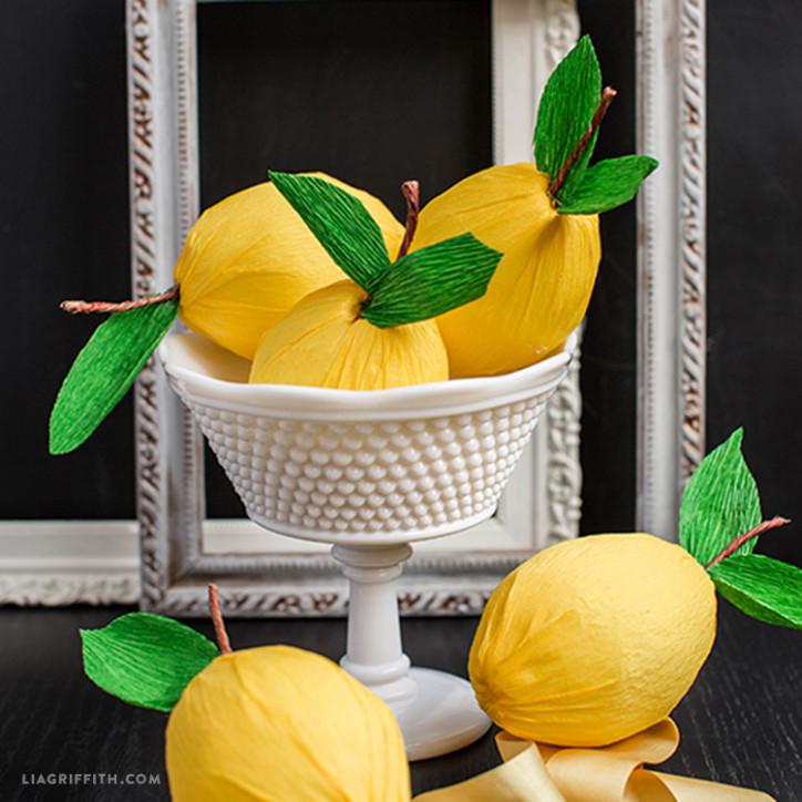 Crepe Paper Lemons