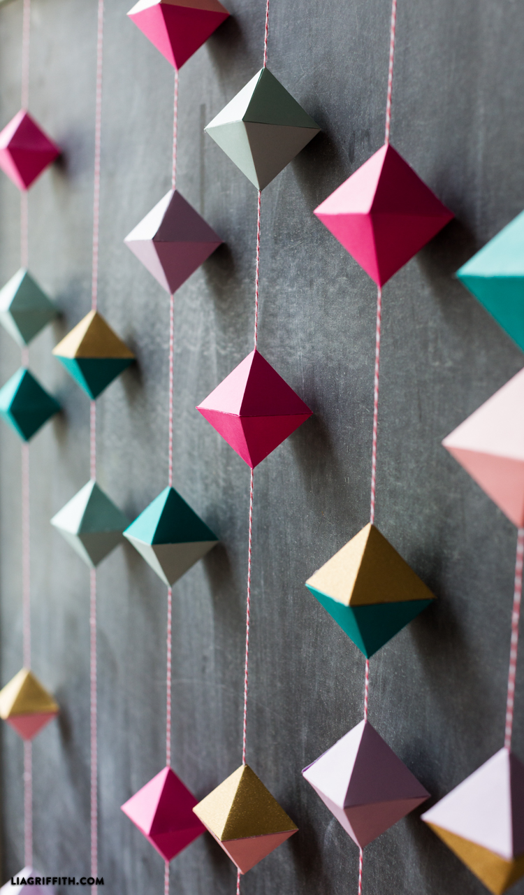 Diy paper geode garland lia griffith for Diy paper origami