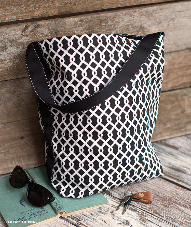 How To Sew A Simple Tote Bag - Lia Griffith