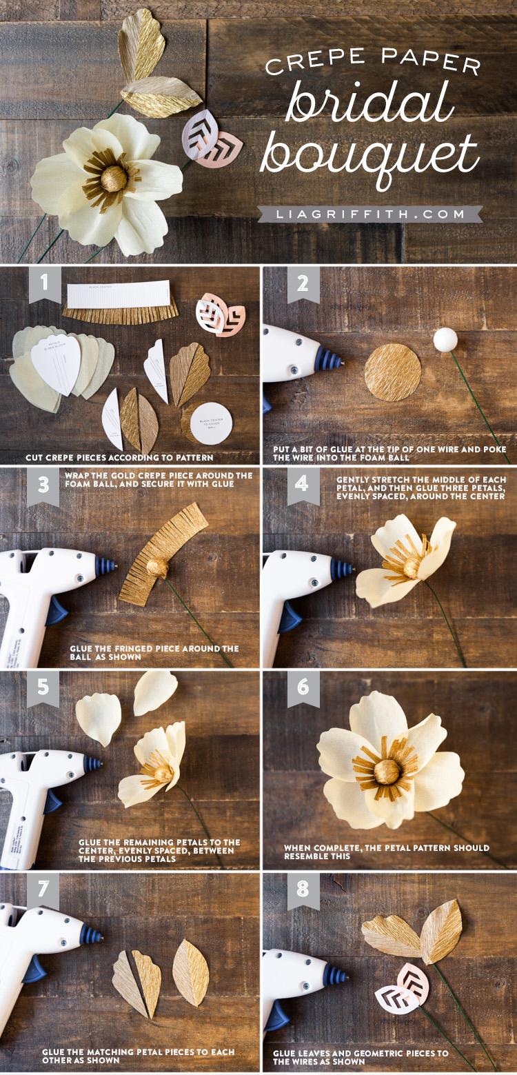Crepe Paper Wedding Bouquet Lia Griffith