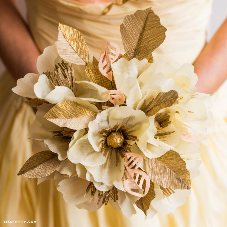Crepe Paper Wedding Bouquet - Lia Griffith