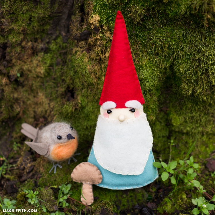 DIY Felt Garden Gnomes Lia Griffith Magnificent Free Gnome Patterns