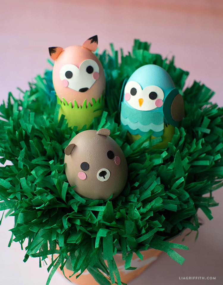 Woodland Animal Easter Eggs Lia Griffith
