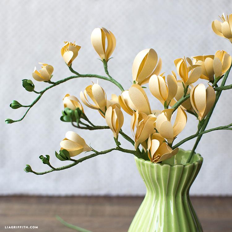 Freesia Paper Flower Lia Griffith