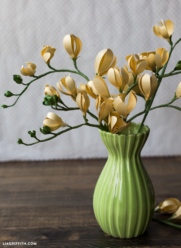 freesia paper flower