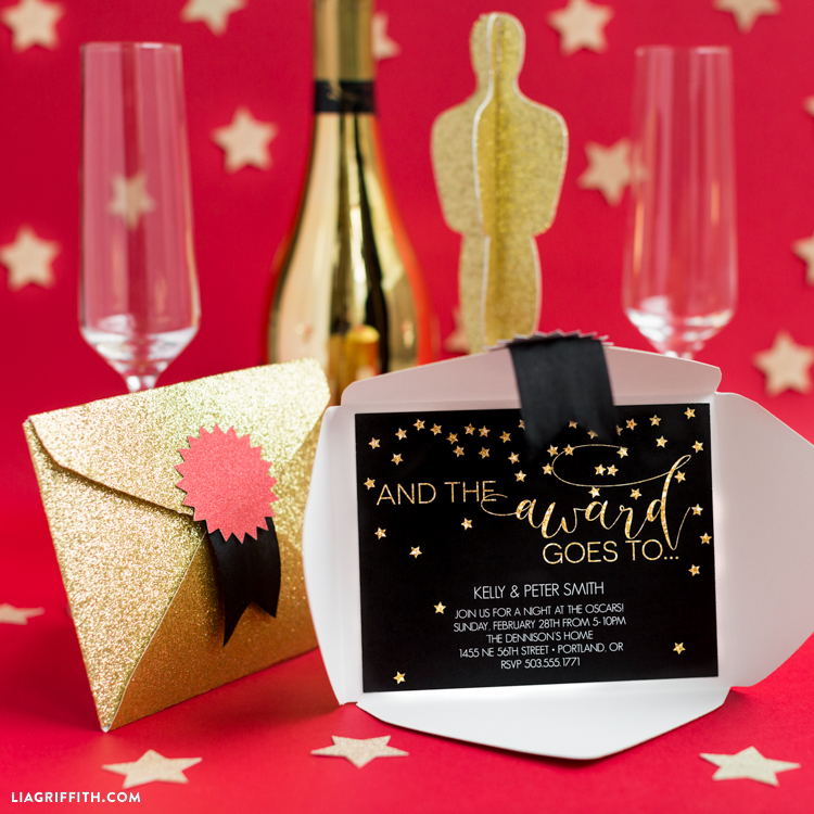 Oscar Party Invitation - Lia Griffith