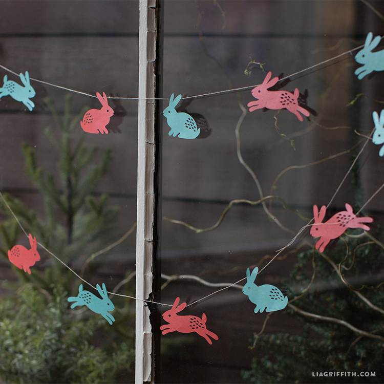 Paper Bunny Easter Garland