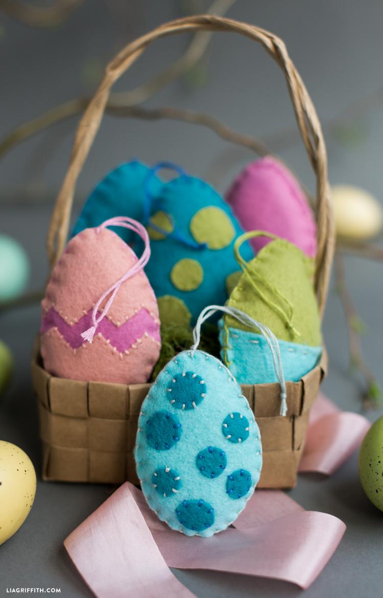 felt easter egg ornaments lia griffith