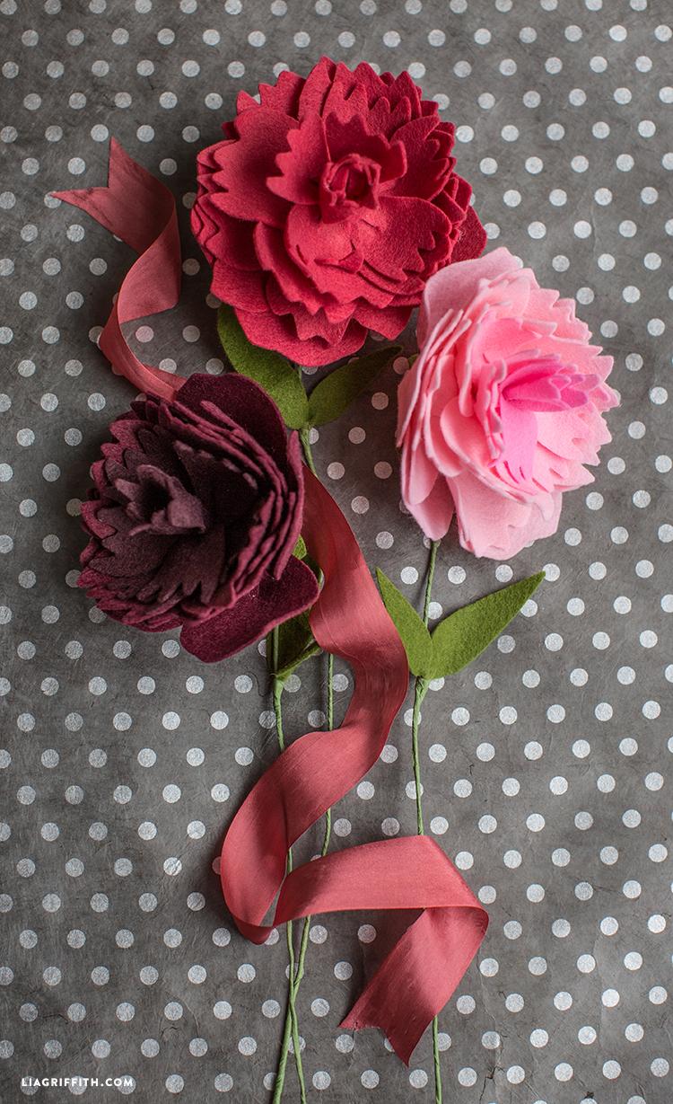 Felt Peony Flower Lia Griffith