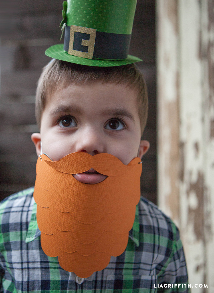 Orange Paper Beard